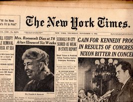 The New York Times November 8,1962 - $5.95
