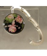 Floral Metal Folding Purse Handbag Hanger Holder Hook - $8.99