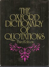 BOOK-Oxford Dictionary of Quotations: Blue Leather Presentation Edition ... - $59.99