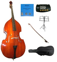 Merano 3/4 Size Upright Bass,Bag,Bow,Bridge,2 Sets Strings,Stand,Tuner,Rosin - $659.99