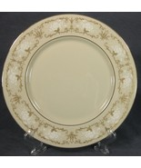 Karilon Brentwood Castle Dinner Plates White Roses Gold Accents Cream Ba... - $14.95