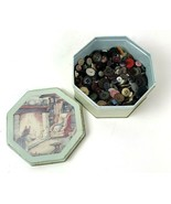 Lot Of Old Buttons In Vtg Brambly Hedges Tin Mouse Mice Kitsch - $18.80