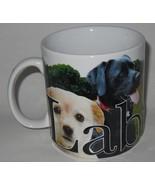 2007 Americaware Labrador Retriever Large 18 oz Coffee Cup Mug Black Yel... - $19.95