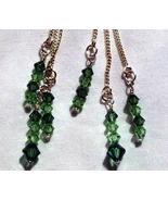 Sterling Swarovski Chrysolite and Ernite Ear Threaders Moms Day. Gift Id... - $15.00