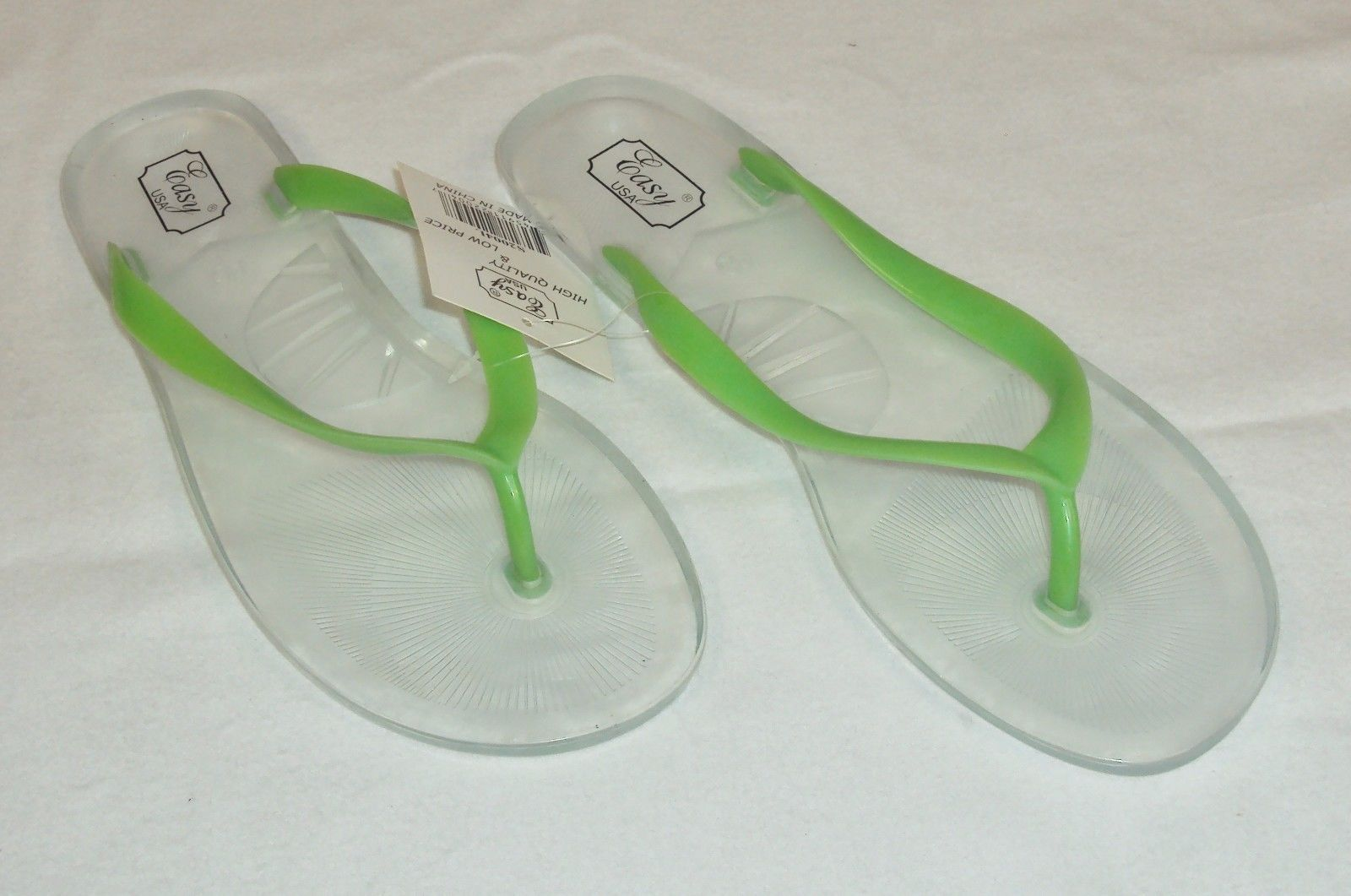 4000e51b8caa Women s Jelly Flip Flops ~ Transparent Hard and 50 similar items