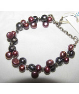 Boho Bracelet PEAcock  GRAY+DUSTY ROSE   FW PE... - $19.99
