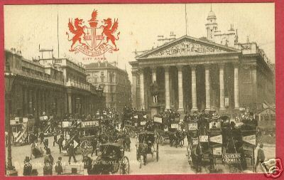 Primary image for LONDON BANK ENGLAND Royal Exchange Horse Buggy Tuck
