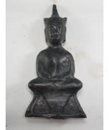 Very Rare! Ancient Phra Chai Ngang Khmer 300 Years Thai Buddha Amulets - $19.99