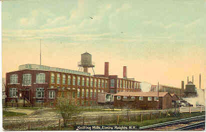 The Knitting Mill Elmira Heights New York Vintage Post Card
