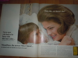 Miss Clairol Hair Color Mother & Daughter Print Magazine Ad 1965 - $15.99