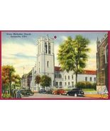 ZANESVILLE OHIO Grace Methodist Church OH Linen... - $4.00