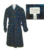 Cabelas wrap robe blue plaid xtra thick fleece sm/med  - $21.50