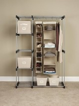Closet Clothes Organizer Storage Laundry Hang  Bed Room Garment System U... - $85.38 CAD