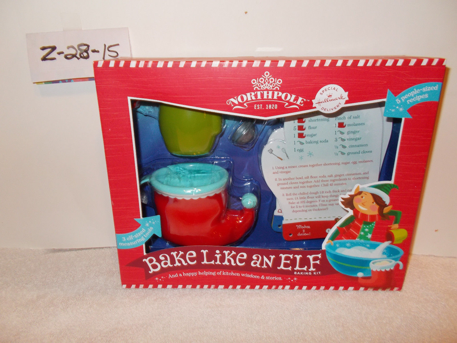 Primary image for Hallmark Northpole Bake like an Elf measuring kit tools & recipe cards