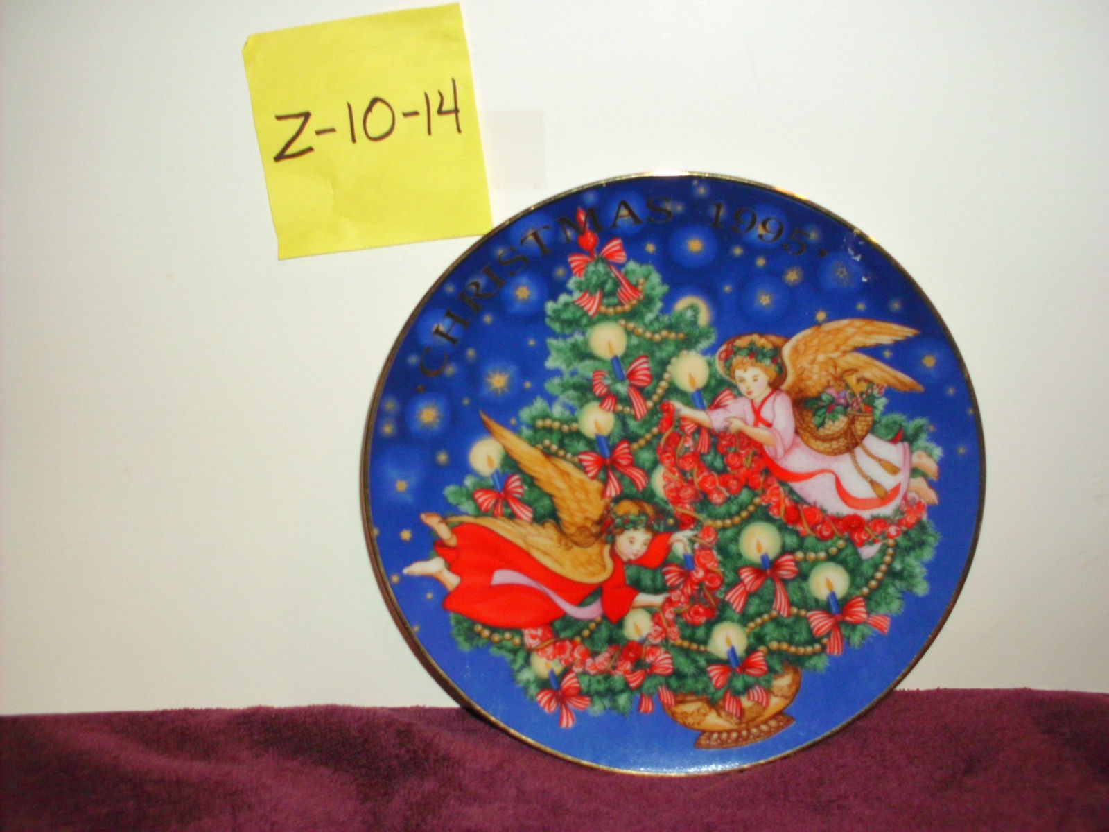 "Avon 1995 Christmas Plate ""Trimming The tree"" 1995"