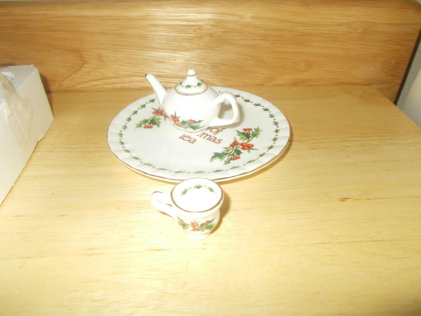 a cup of christmas tea miniature tea set