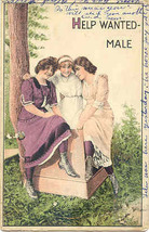 Male Help Wanted and Hungrily Sought Vintage 1911 Post Card - $6.00