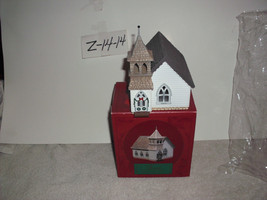 Hallmark Sarah Plain & Tall The country church Christmas Village House - $14.99