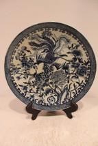 Beautiful Oriental Blue and White Bird Motif Porcelain Plate - $48.19