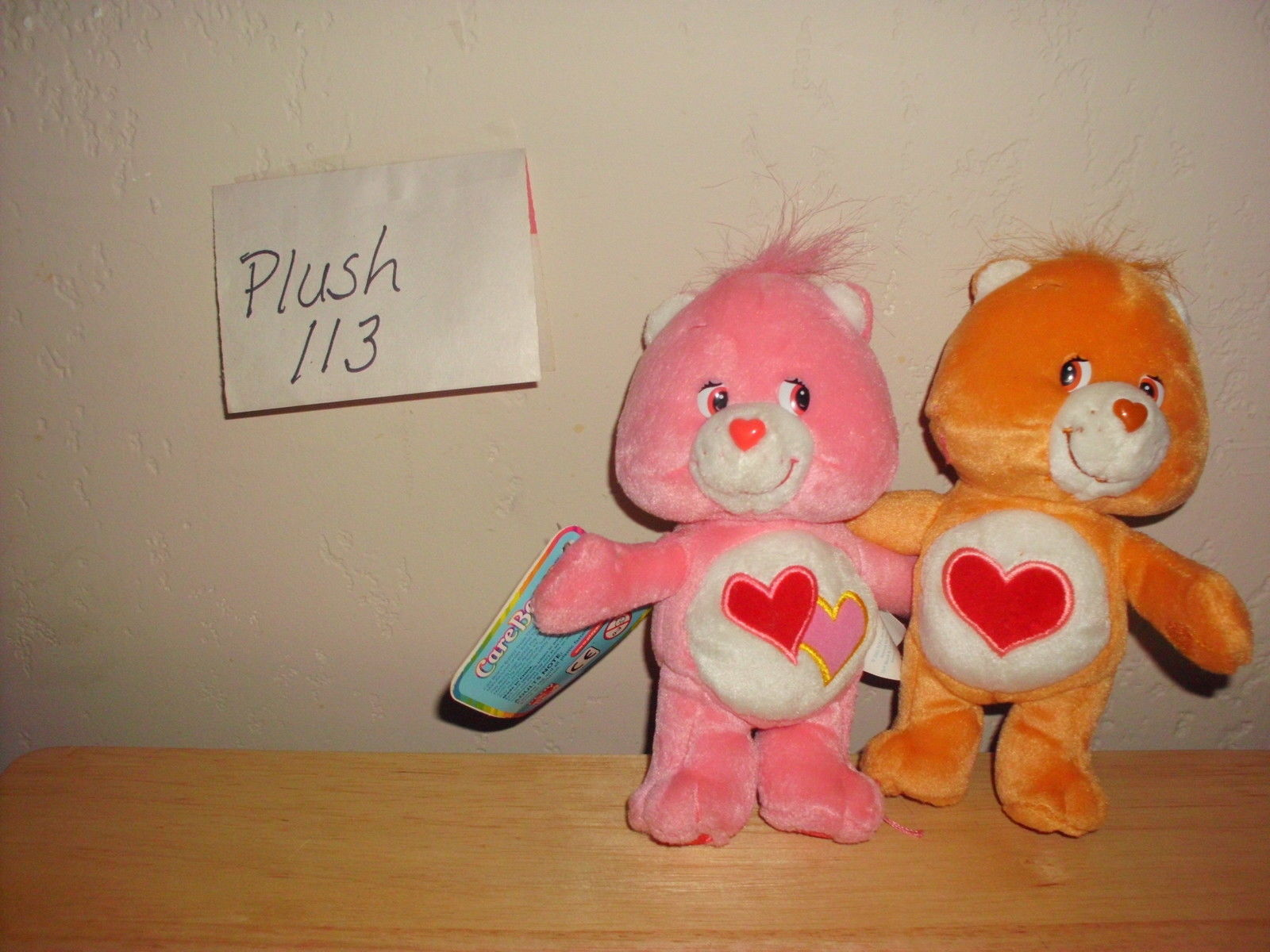 Care Bear Love-A-Lot & Tenderheart Plush Stuffed Toy