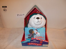 Hallmark Northpole Snowby Bear and book- shivers when you touch he's nose - $25.99