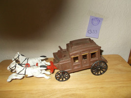 Vintage Cast Iron Horse and Carriage - $32.99