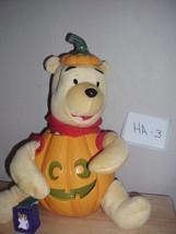 Halloween Winnie the Pooh animated Singing Jack O lantern Pumpkin, by Gemmy - $14.99