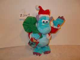 disney monsters Inc Santa Sully Animated Musical plush - $25.99
