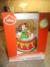 Disney Minnie Mouse Christmas Elf Musical water... - $29.99