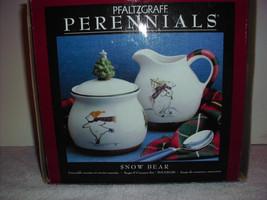 pfaltzgraff Perennials Snow bear Creamer & sugar bowl - $24.99