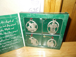 Longaberger Angel Pewter Christmas Ornaments - $14.99