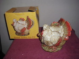 Thanksgiving Glazed Turkey Teapot - $17.99