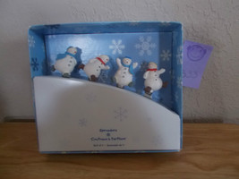 Hallmark Christmas Snowman Spreaders , Couteaux a tartiner Set of 4 - $14.99
