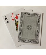Giant Plastic Coated Poker Playing Cards Black Deck - $8.99