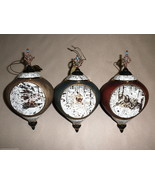 Bradford Editions 4th Issue Hidden Nature Heirloom Porcelain Ornaments #... - $29.70