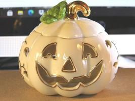 LENOX Halloween Jack O Lantern Votive Candle holder  Pumpkin New NO Box - $30.39