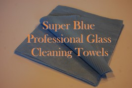 25 - Super Blue Professional Glass Cleaning Towels Picture frame Glass R... - $8.95