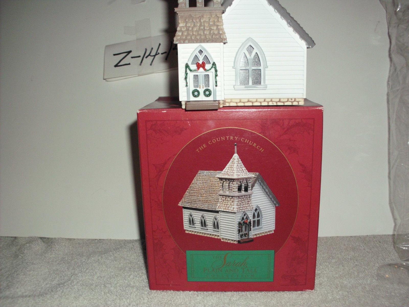 Hallmark Sarah Plain & Tall The country church Christmas Village House image 2