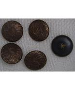 5 Brass swirl design buttons BJs - $12.50