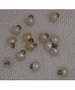 14 Pearlized Glass Buttons Diminutive Doll Baby Clothes - $7.50