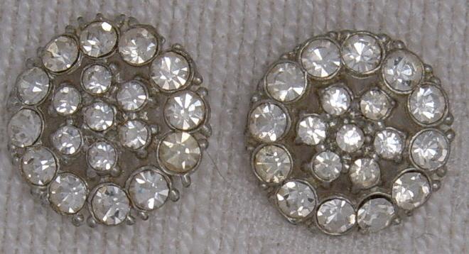 2 rhinestone buttons