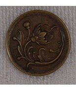 Large brass floral button BJs - $6.00