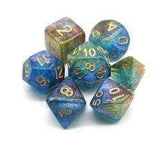HD Dice Polyhedral Glitter Dice Set Blue Green Red DND Dice Fit Dungeons and Dra image 2