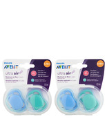 Philips Avent Ultra Air Pacifier 6-18m Blue/Green 4 Ct   - $20.86