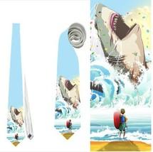 necktie meg megalodon shark - $22.00
