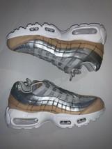 Nike Air Max 95 SE Premium Womens Running Platinum Silver/Tan AH8697-002 SZ 7.5 - $86.12