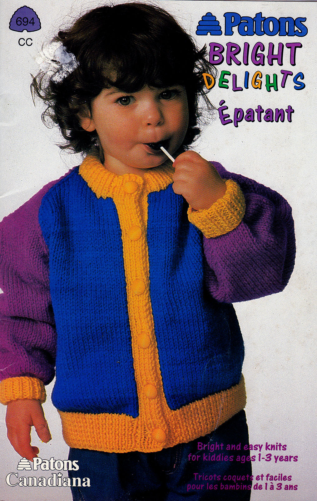 Primary image for BRIGHT DELIGHTS KIDS KNITS SIZES 1 TO 3 PATONS 694 KNITTING WORSTED