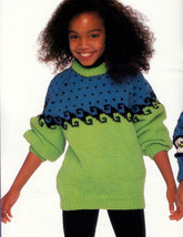 Kidstuff Patons Chunky #675 Approx. Sizes 4   10 Sweaters Cardigans - $4.98