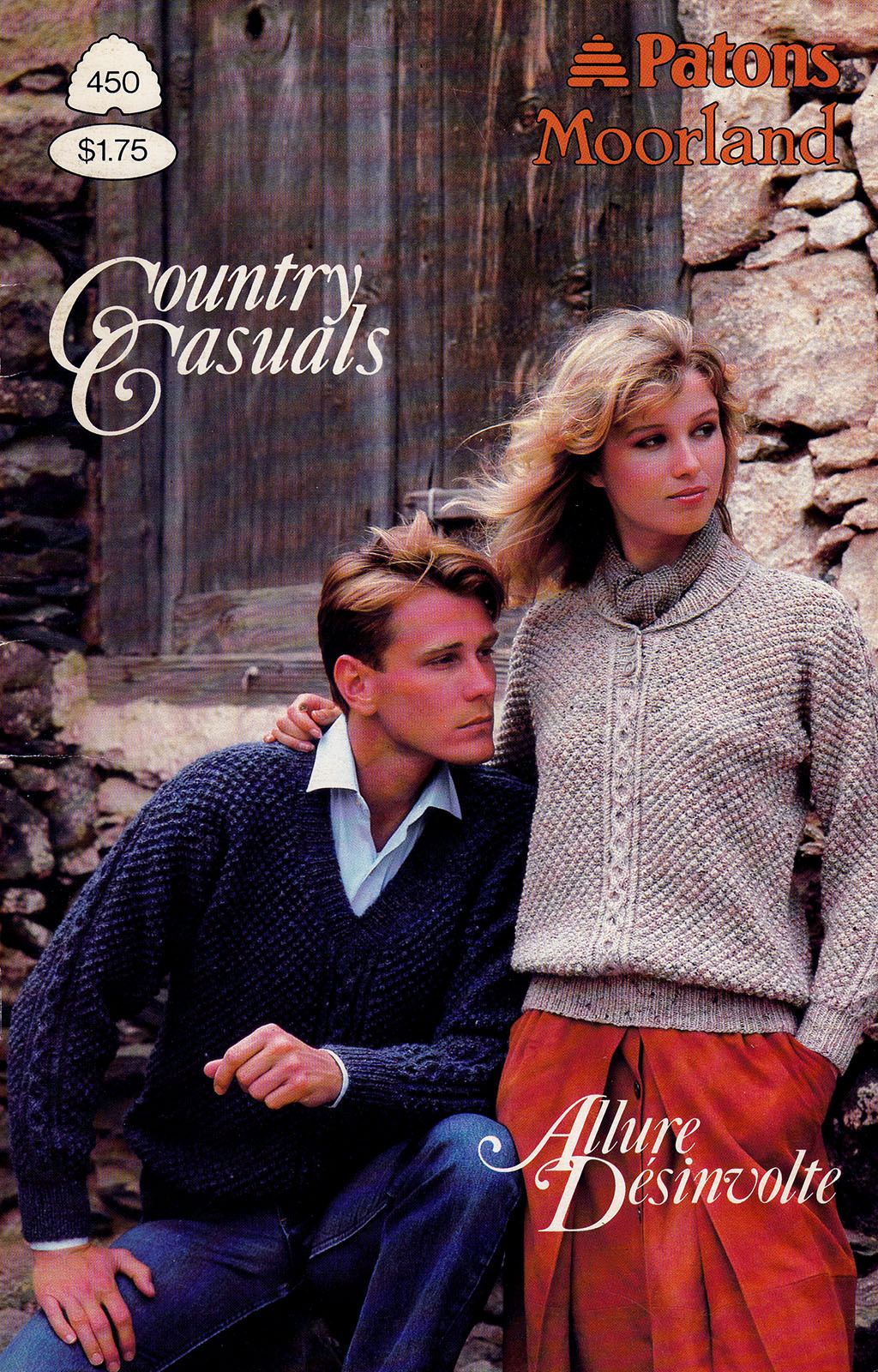 Primary image for COUNTRY CASUALS PATONS 450 CLASSIC CLASSY DESIGNED KNITS FAIR ISLES CABLES