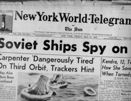 New York World-Telegram & The Sun Newspaper Friday, May 25, 1962 - $4.90